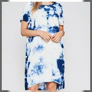 Dresses & Skirts - ❣Blue Tie Dye Shift Dress❣